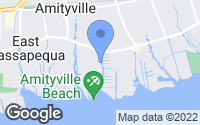 Map of Amityville, NY