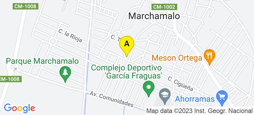 situacion en el mapa de . Direccion: Calle Paz 19, 19180 Marchamalo. Guadalajara