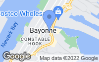 Map of Bayonne, NJ