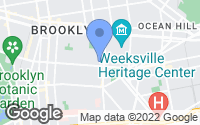 Map of Brooklyn, NY