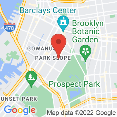 Map showing Blue Bottle Coffee — Park Slope