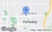 Map of Holladay, UT