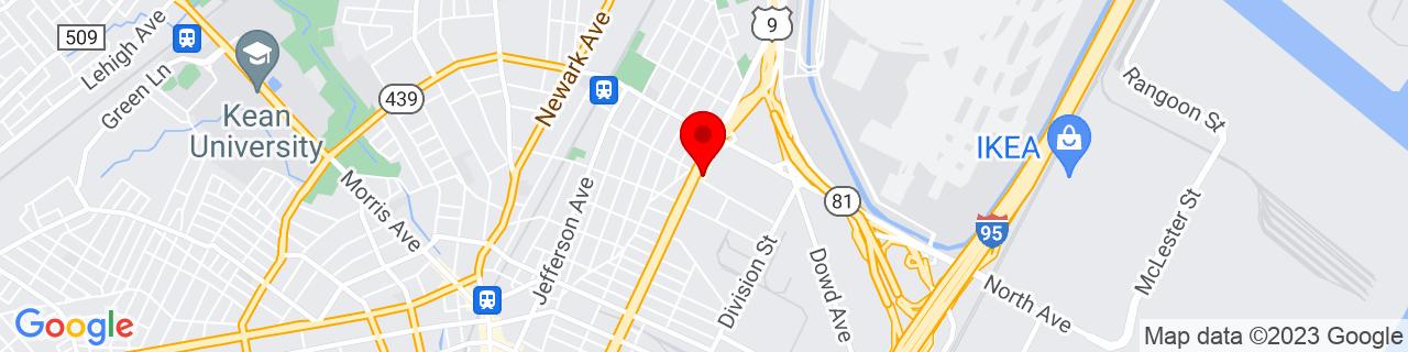 Google Map of 40.6751055, -74.1982824