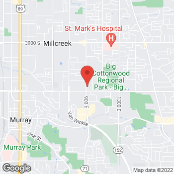 Map of Shahzad Ahmad, MD at 4465 S 900 E, Salt Lake City, UT 84124