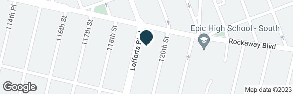 Google Map of11902 ROCKAWAY BLVD