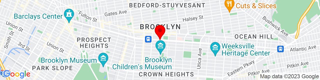 Google Map of 40.6781784, -73.9441579
