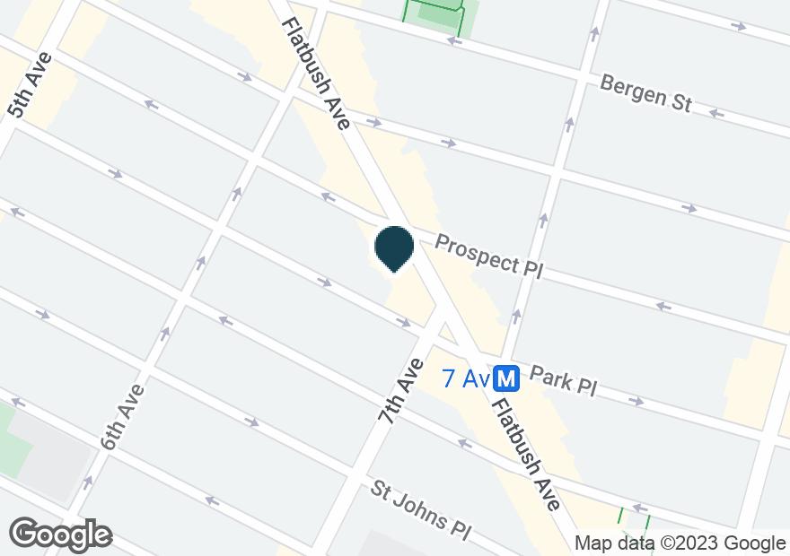 Google Map of296 FLATBUSH AVE