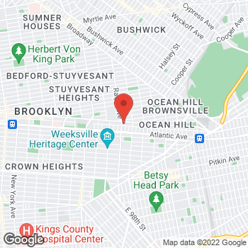 Map of Rite Aid at 1950 Fulton Street, Brooklyn, NY 11233