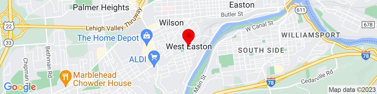 Google Map of 40.67861111111111, -75.23694444444445