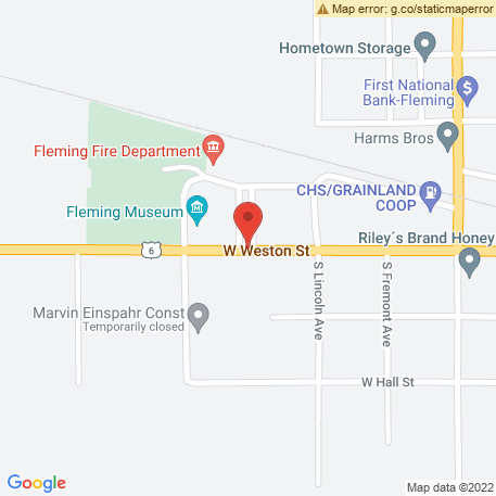 Fleming City of - Museum on Map (400 W Weston, Fleming, CO 80728) Map
