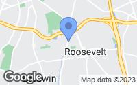 Map of Roosevelt, NY