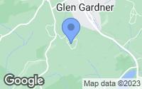 Map of Glen Gardner, NJ