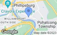 Map of Phillipsburg, NJ