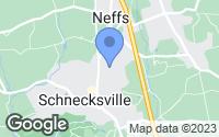 Map of Schnecksville, PA