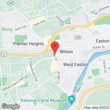 Map of Arby's at 2445 Butler St, Easton, PA 18042-5302