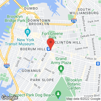 Map of Guitar Center at 139 Flatbush Ave, Brooklyn, NY 11217