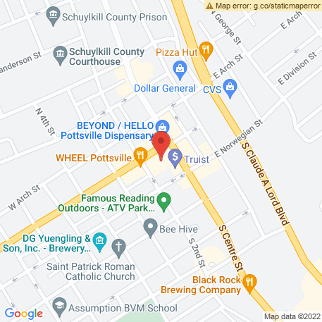 Driscoll Karate Institute on Map (21 N Centre St, Pottsville, PA 17901) Map