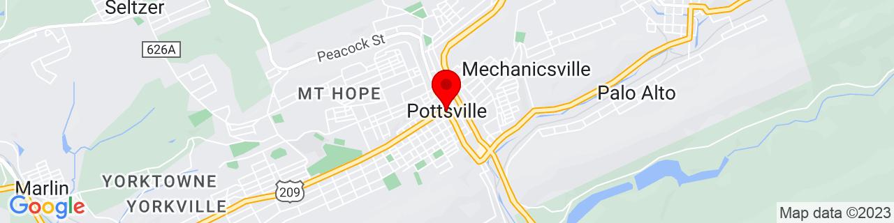 Google Map of 40.68555555555555, -76.19555555555556