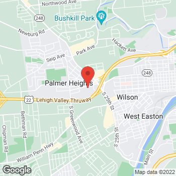 Map of Vinay Singhal, MD at 21 Community Drive, Easton, PA 18045