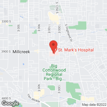 Map of Jessica Hunn, MD at 1140 E 3900 S, Salt Lake City, UT 84124