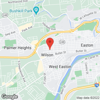 Map of Om Sharma, MD at 2100 Lehigh Street, Easton, PA 18042