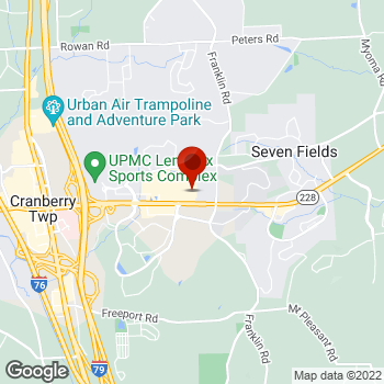 Map of Staples® Print & Marketing Services at 1675 Route 228, Cranberry Township, PA 16066