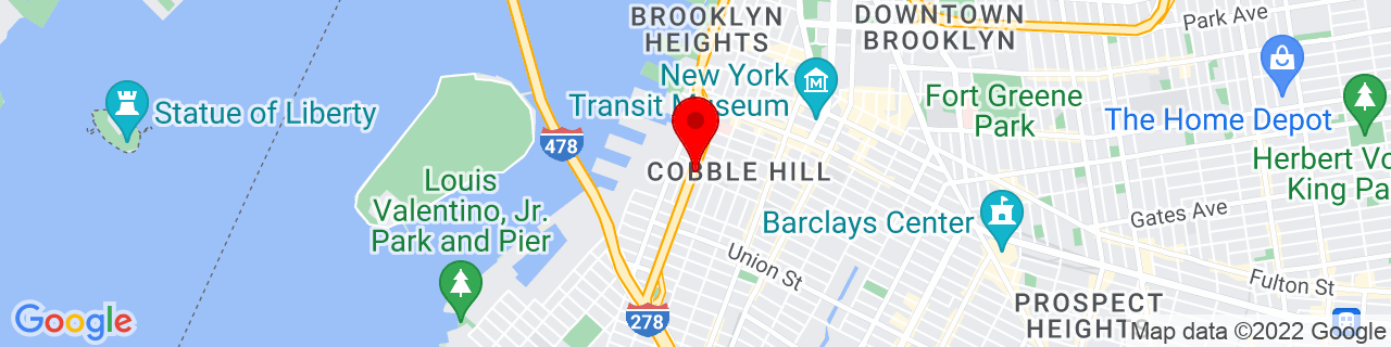 Google Map of 40.687315, -73.99963799999999