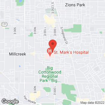 Map of John Butler, MD at 1255 E 3900 Ssuite 301, Millcreek, UT 84124