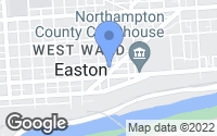 Map of Easton, PA