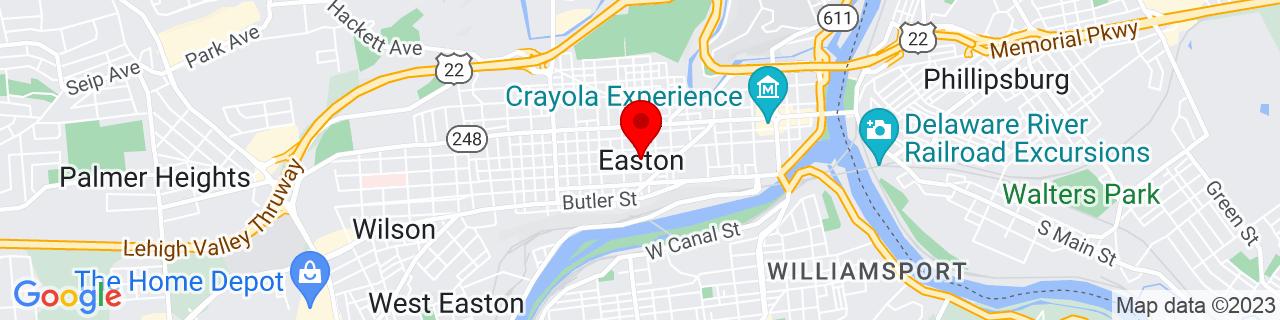 Google Map of 40.688432, -75.2207323