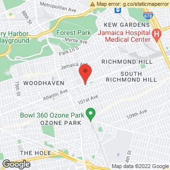 Map of Dr. Vincente Calderon, Optometrist, and Associates - Atlantic Avenue Shopping Cent at 102-22 Atlantic Avenue, Ozone Park, NY 11416