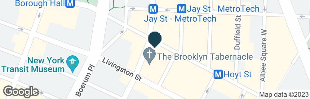 Google Map of386 FULTON ST