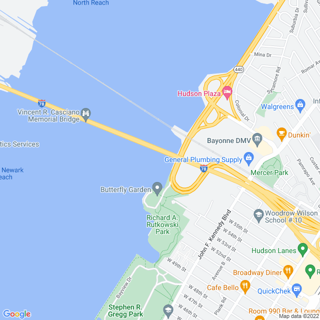 Map of Newark Bay Extension