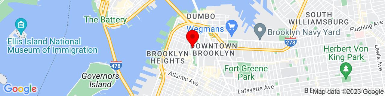 Google Map of 40.6963648, -73.9905388