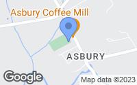 Map of Asbury, NJ