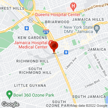 Map of Staples® Print & Marketing Services at 91 - 30 Van Wyck Expressway, Jamaica, NY 11418