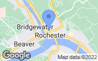 Map of Rochester, PA