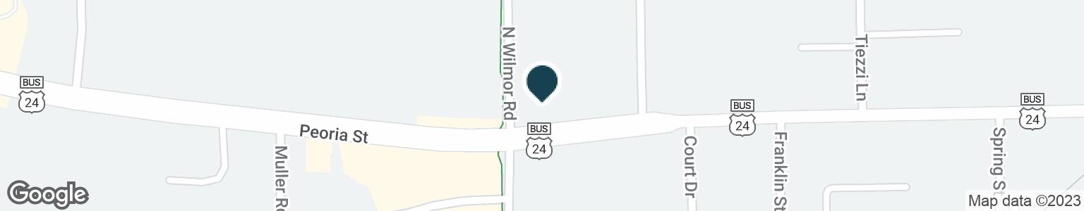 Google Map of1011 PEORIA ST