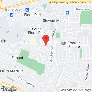 Map of Dr. Jeane Kim, Optometrist, and Associates - Elmont at 1445 Hempstead Turnpike, Elmont, NY 11003