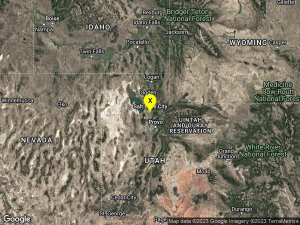 earthquake 2km SW of South Salt Lake, Utah