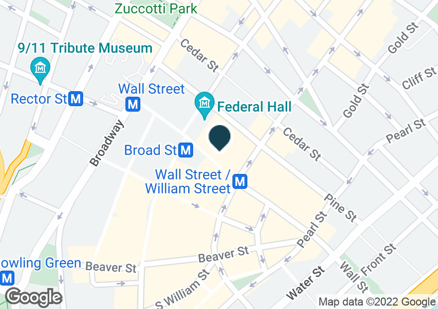 Google Map of40 WALL ST