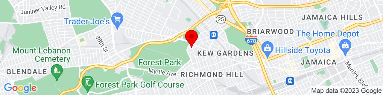 Google Map of 40.7068749, -73.836885