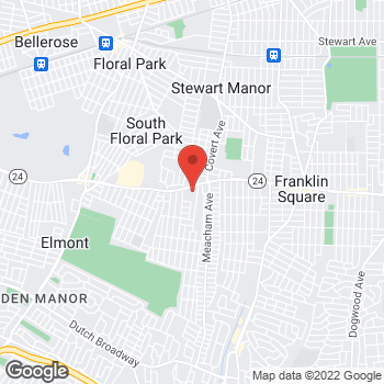 Map of Rite Aid at 14-15 Hempstead Turnpike, Elmont, NY 11003