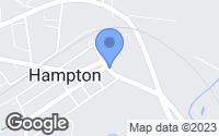 Map of Hampton, NJ