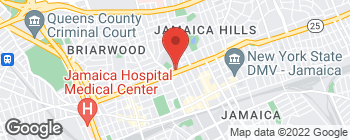Map of 16007 Hillside Ave in Jamaica