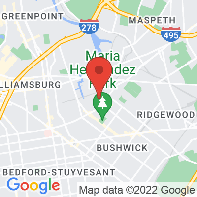Map showing Caffe Vita — Bushwick