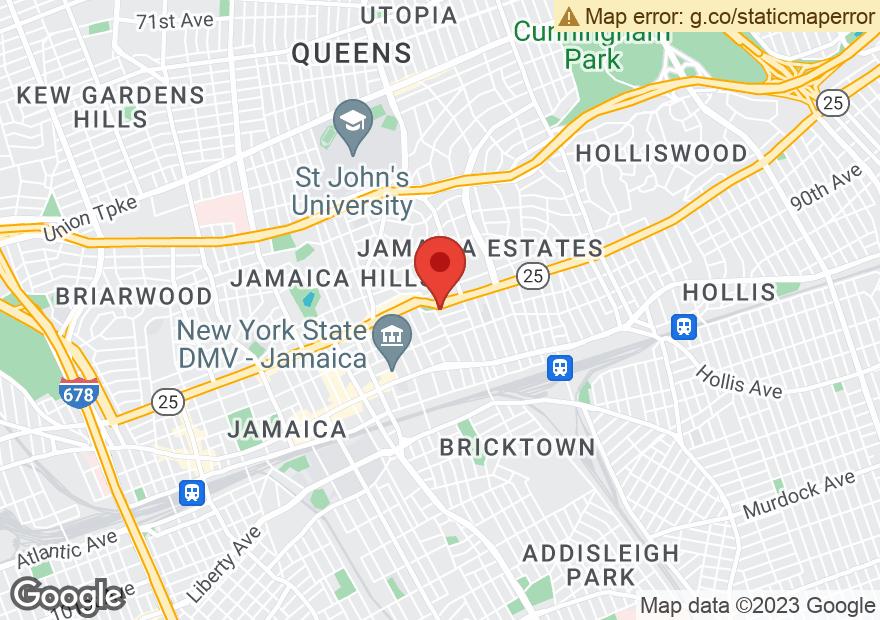 Google Map of 17506 HILLSIDE AVE