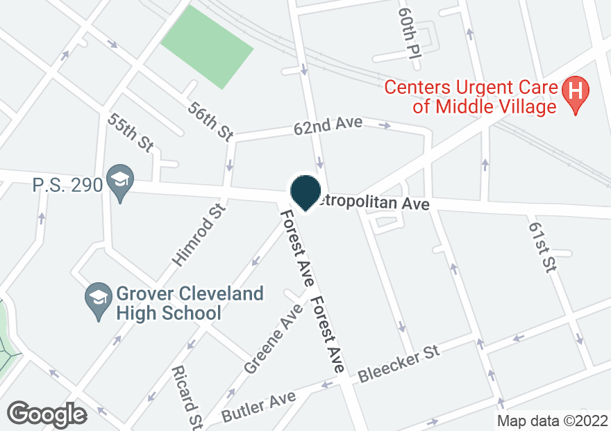 Google Map of5802 METROPOLITAN AVE