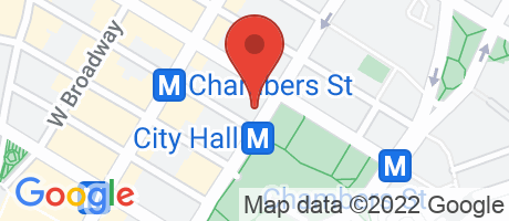 Branch Location Map - Bank of America, Broadway And Warren Street Branch, 261 Broadway, New York NY