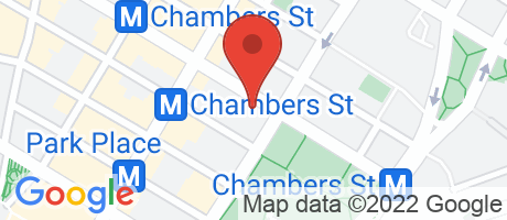 Branch Location Map - Chase Bank, Broadway & Chambrs Branch, 270 Broadway, New York NY